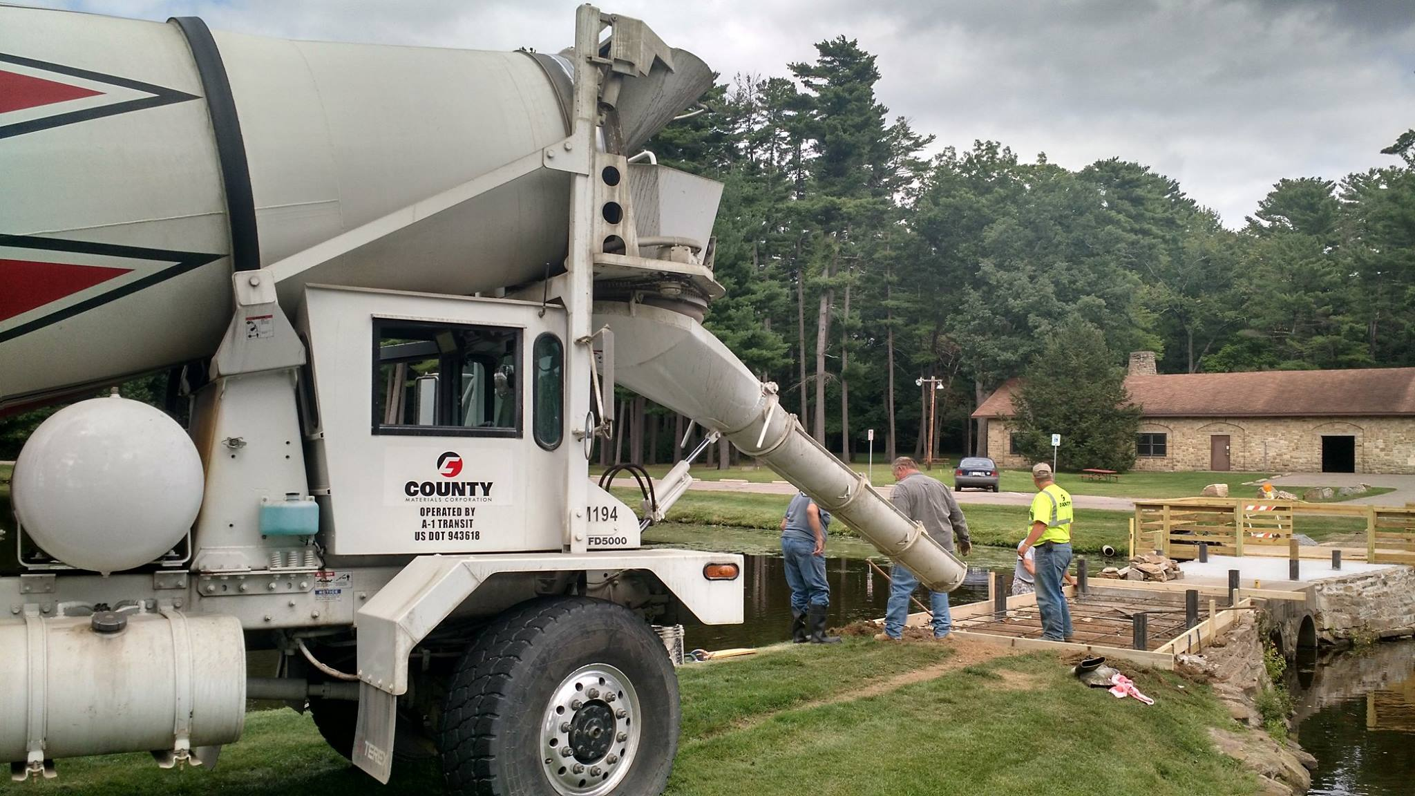 Community Park Gets a Facelift with Donation from County Materials