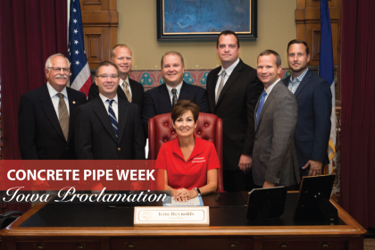 County Materials Takes Part in Iowa Concrete Pipe Week Proclamation