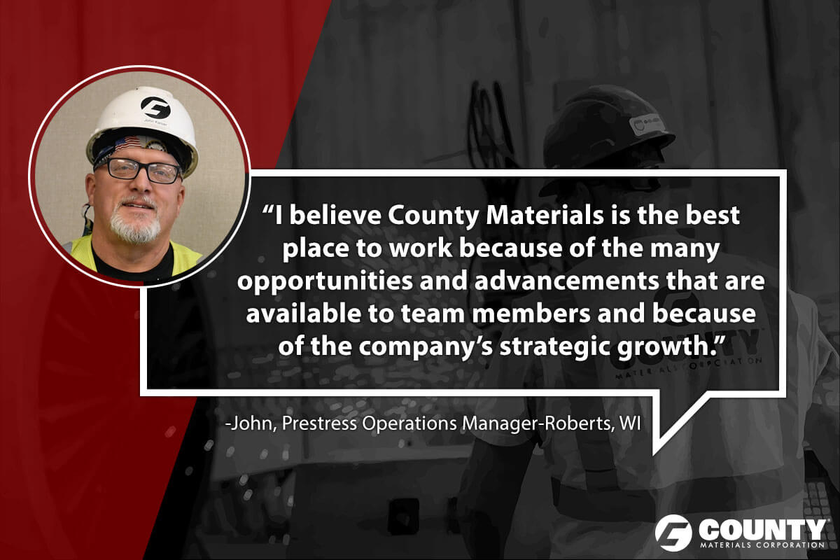John, Prestress Operations Manager-Robert, WI