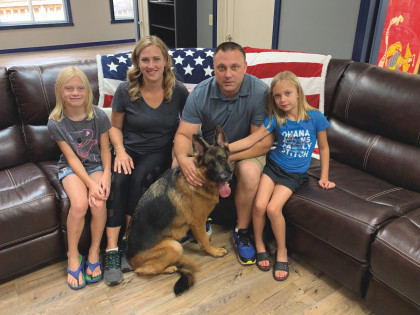 County Materials Assists Veterans with the Expenses of Training a Service Dog