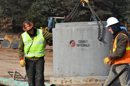 County Materials Supports Construction Industry Training with Concrete Pipe Donation
