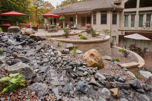 Blending Hardscape Products Results in natural Masterpiece