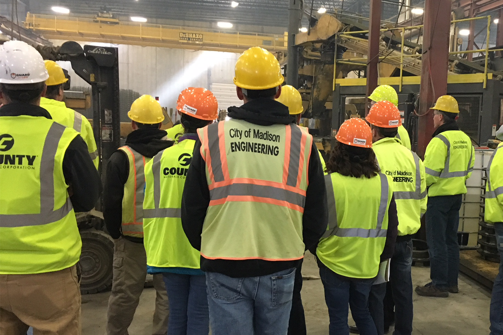 Madison Wisconsin City Engineers Tour County Materials Concrete Pipe Manufacturing Facility