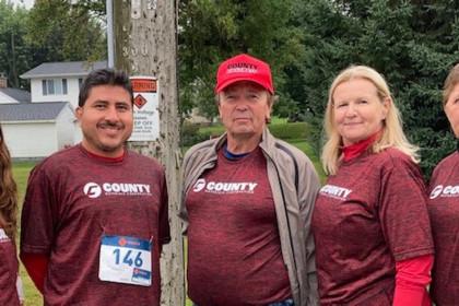 County Materials' Team Members Participate in Marathon Fun Run