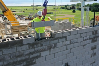 "County Materials' Oversized 32"" Concrete Masonry Units Are the Key to Installation Efficiency"