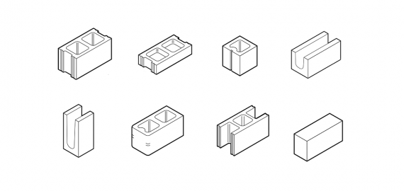 "Standard Masonry Shapes and Sizes (2"" – 16"")"