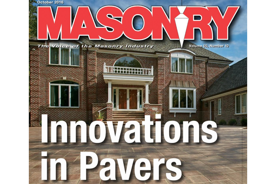 County Materials Pavers Featured in Masonry Magazine
