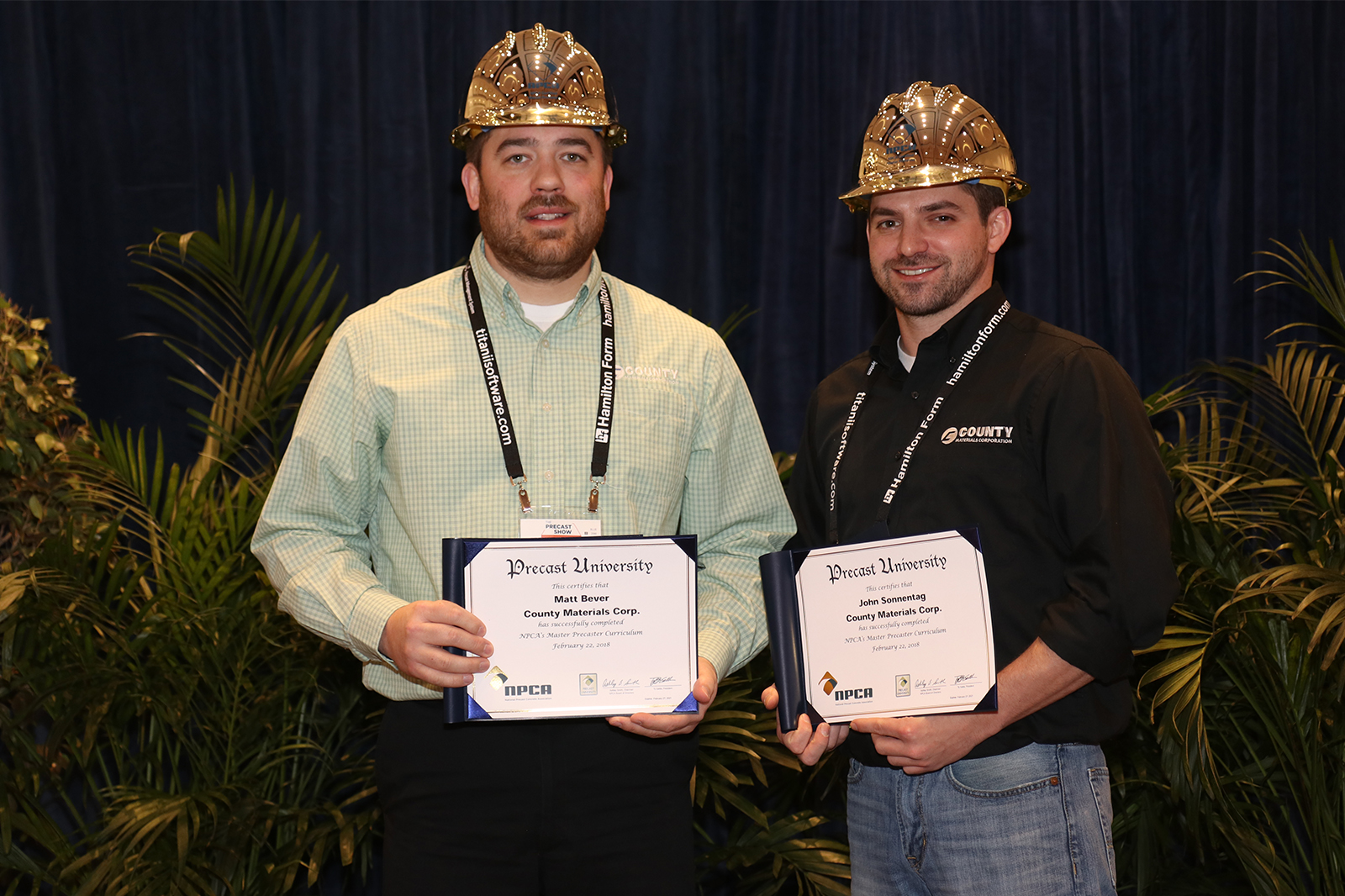 Master Precaster Certification Earned by Two County Materials Employees