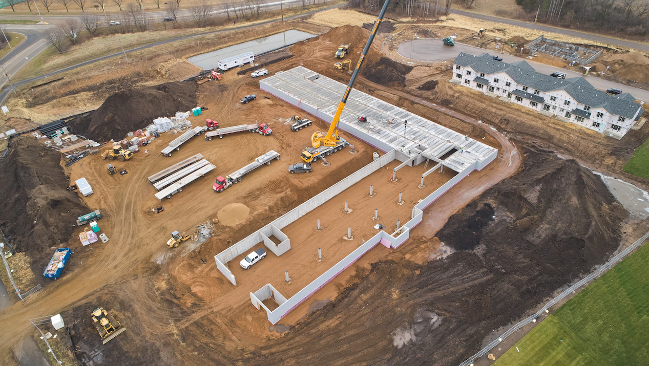 County Materials' Hollowcore is Manufactured and Delivered  to Meet Aggressive Construction Schedules