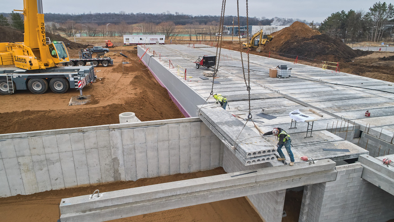 County Materials' Hollowcore Promotes Efficient, Cost-Effective  Concrete Podium Construction