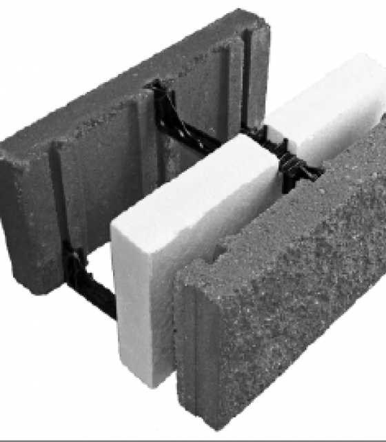 Insulating block for Insulated concrete masonry units