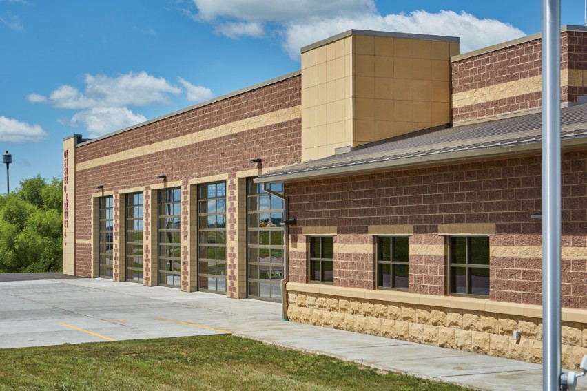 Community Fire Station Specifies Concrete Masonry for its Low Maintenance and Cost Effectiveness