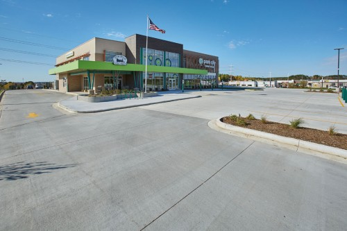 Ready-Mix Offers Maximum Value for Credit Union Parking Lot