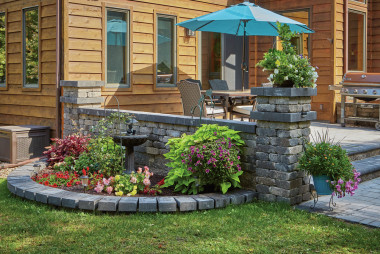 Homeowners Use County Materials' Readily Available Concrete Landscape Products to Meet Tight Timelines and Achieve Desired Results
