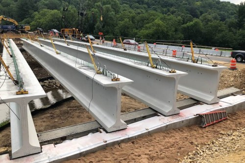 Skilled Drivers Overcome Girder Delivery and Staging Challenges