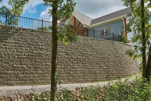 County Block® Retaining Wall System Overcomes Extreme Challenges on New Home