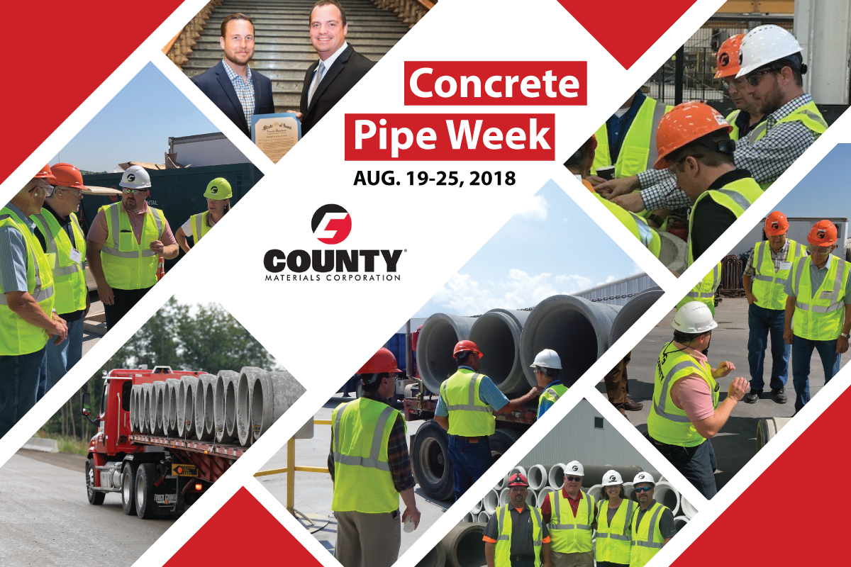 County Materials Takes Lead During Concrete Pipe Week