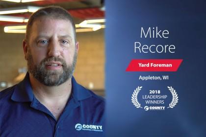 County Materials Congratulates Mike Recore-2018 Second Quarter Leadership Winner