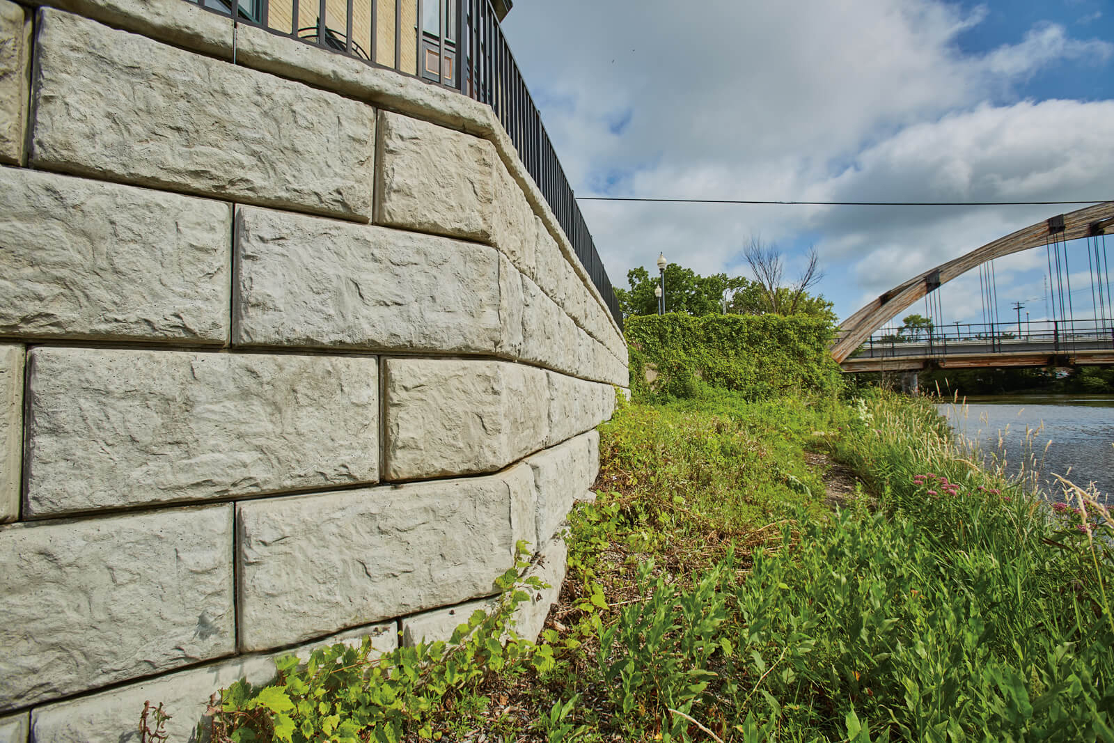 The Height of Efficiency with Rib Rock Landscape Block