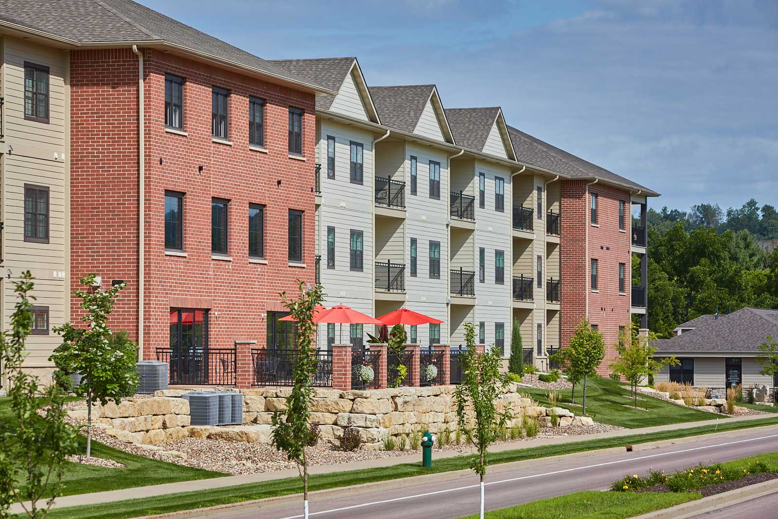 Variety of Concrete Landscape and Masonry Products Brings Luxury Condominium Complex to Life