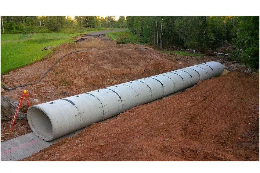 Elliptical Concrete Pipe Reopens Highway After Devastating Storm Hits Northcentral Wisconsin