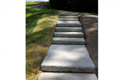 County Materials Donates Oversize Landscape Step Units for  Community Park Renovation Project