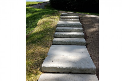 County Materials Donates Oversize Landscape Step Units for  Community Park Renovation Project
