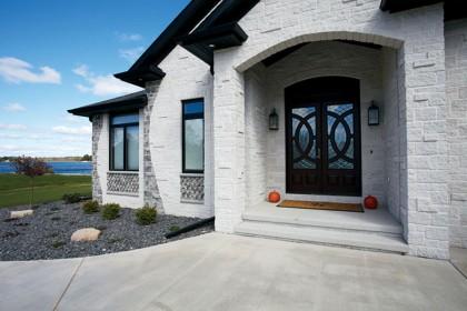 Dream Retirement Home Showcases Maintenance Free Exterior using Tumbled Concrete Masonry Units