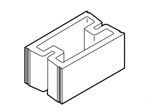 Thermal block for Insulated concrete masonry units