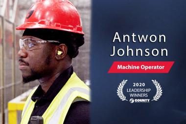 County Materials Congratulates Antwon Johnson – 2020 Third Quarter Leadership Award Winner