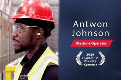County Materials Congratulates Antwon Johnson – 2020 Third Quarter Leadership Award Winner