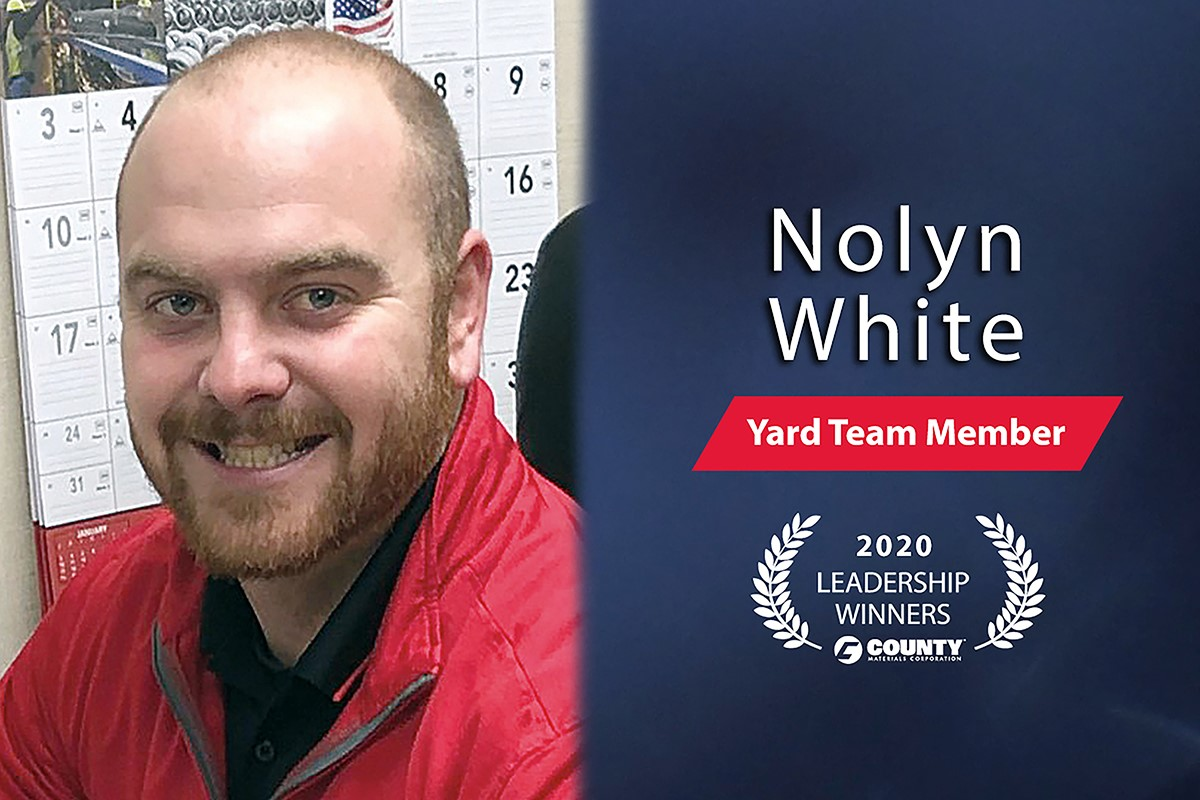 County Materials Congratulates Nolyn White – 2020 Fourth Quarter Leadership Award Winner