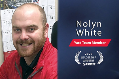 County Materials Congratulates Nolyn White – 2020 Fourth Quarter Leadership Award Winner