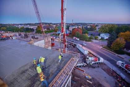 Ready-Mix Serves as an Essential Component for  UW-Stevens Point's Chemistry and Biology Building
