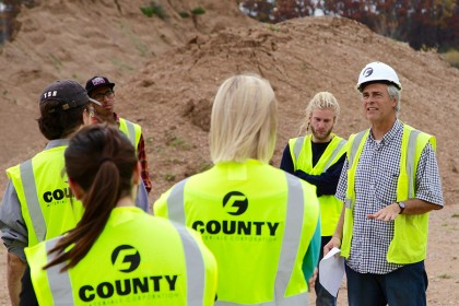 UWSP Students Tour County Materials Gravel Quarry
