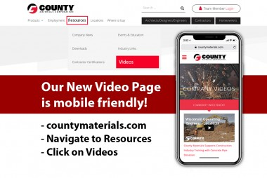 County Materials Launches Improved Video Webpage
