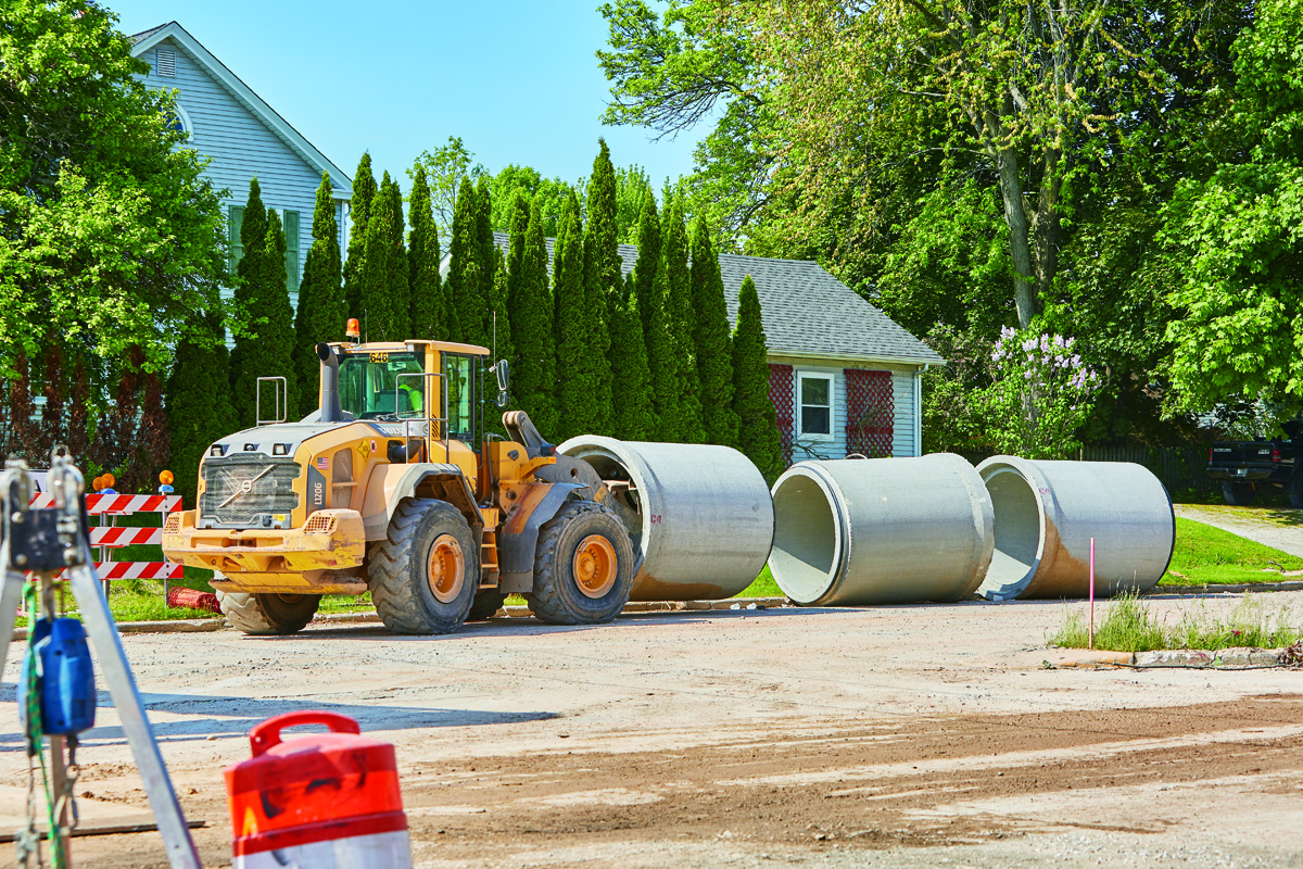 Community Resolves Flooding with Reinforced Concrete Pipe Storm Water System