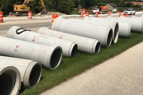 County Materials Keeps Mammoth Pipe Infrastructure Project on Track