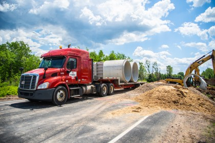 County Materials Responds to Emergency Culvert Replacement