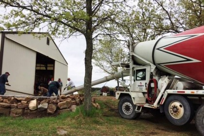 Ready-Mix Donation by County Materials Helps Expand the Wisconsin/Nicaragua Partners of the Americas Inc. Warehouse
