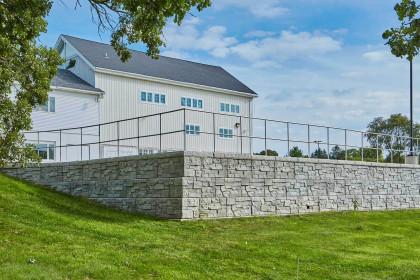 Rib Rock Landscape Block Transforms Hilly Landscape into Usable Space