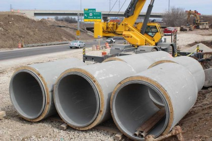 Largest Transportation Project in WI History Goes with Concrete Pipe